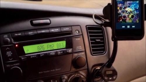 Телефон подключён к автомагнитоле