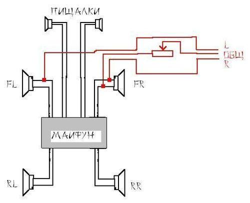 Как подключит усилитель на магнитола схема 88