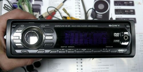 Настройка часов на магнитоле Sony