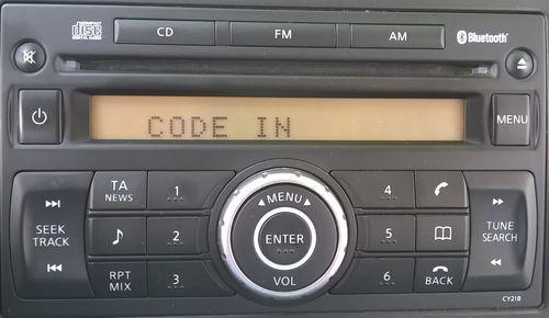 Надпись на  магнитоле CODE