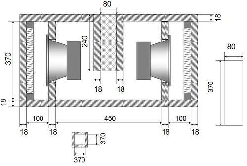 Сабвуфер трёхкамерный БП-4
