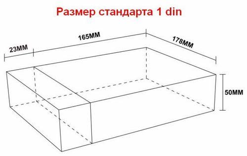 Размеры магнитолы 1 din