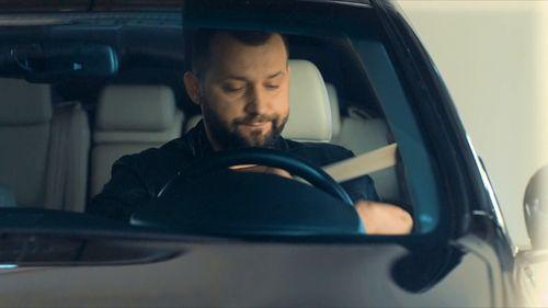 Руслан Белов в своей машине