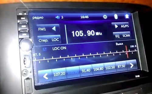 Экран автомагнитолы