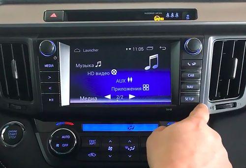 Навигационный блок в Toyota